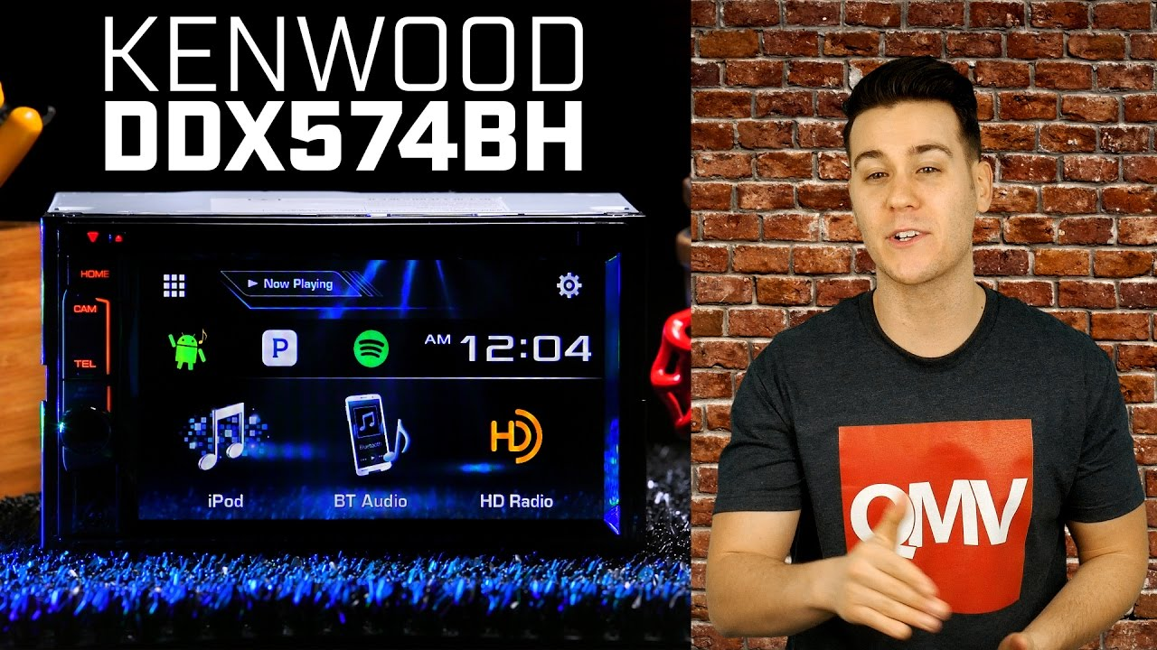 Kenwood DDX574BH Double DIN Bluetooth HD Radio