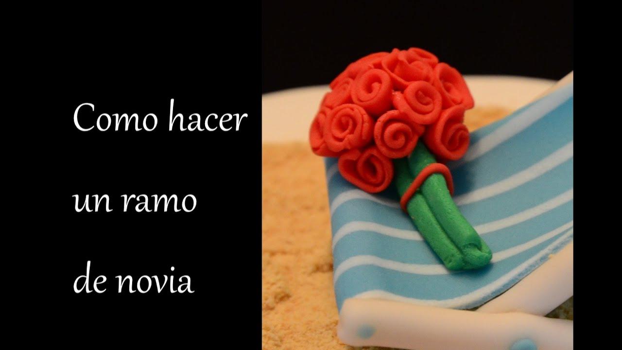 Como hacer un ramo de rosas de novia en fondant how to - Como secar un ramo de rosas ...