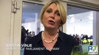 Norwegian Politicians attend annual Ahmadiyya Muslim Convention