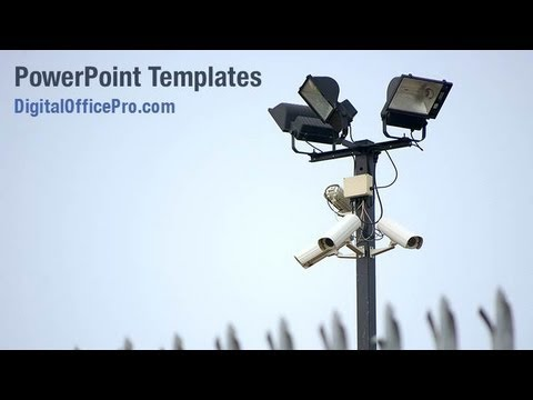 Cctv Cameras Powerpoint Template Backgrounds Digitalofficepro