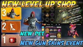 NEW DRAGON PET AND UPCOMING LEVEL UP SHOP AND NEW GUN SKINS FULL DETAILS