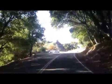 Driving BMW X5 in the Oakland hills