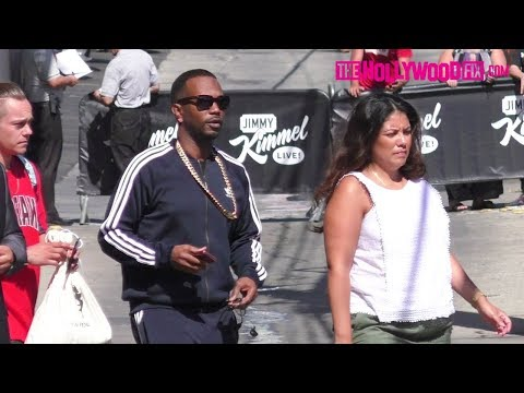 Juicy J From Three 6 Mafia Arrives To Soundcheck At Jimmy Kimmel Live! Studios 8.7.17