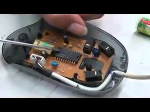Video 10 Working with optical mouse internal components ...