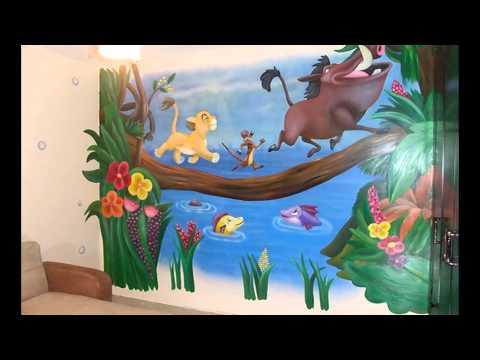 Роспись стен - Оформление детской