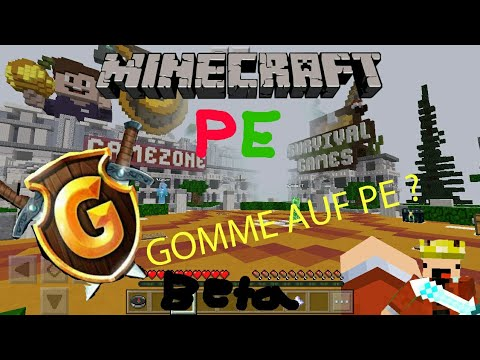 GommeHD Auf MCPE Beta Phase YouTube - Gomme skin fur minecraft pe