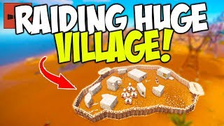 Raiding a Village Community for the French! - Rust Solo Survival
