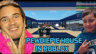 დათუნა აშენებს PewDiePie -ს სახლს | Roblox Youtuber Tycoon