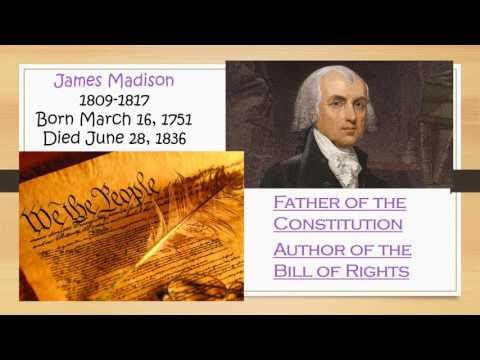 Vid The First Five Presidents HW Powerpoint