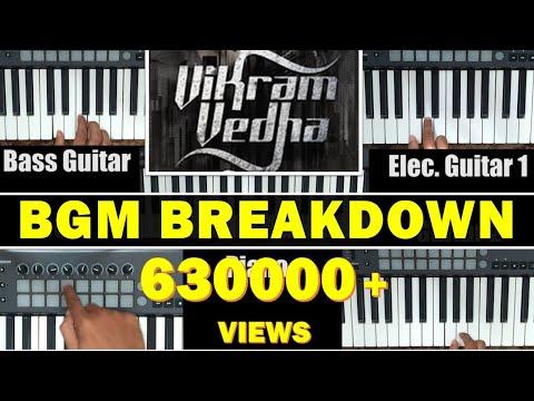 Vikram Vedha BGM | Breakdown Series01 | Tutorial (Piano) | JJmusicStudioz | Jos Jossey |