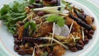 Thai Food-fried Steam Rice Salad Part-1