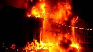 Row Home Fire, South  Lehigh Street, Video 1 of 2, Tamaqua PA, 7-5-2011, TamaquaArea.com