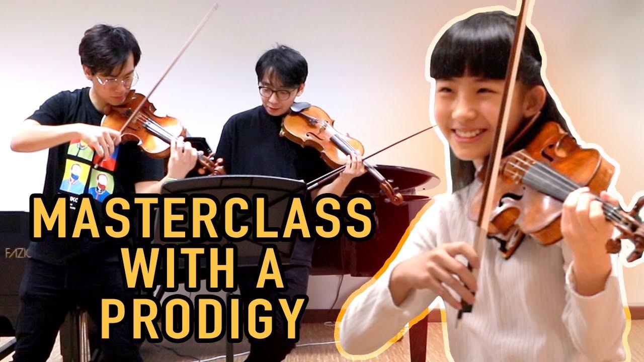 World Class Prodigy Violinist Chloe Chua Gives TwoSet a Violin Lesson