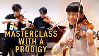 World Class Prodigy Violinist Chloe Chua Gives TwoSet a Violin Lesson