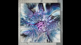 Beautiful and Sparkly!!! Black over Purple, Indigo, and Cobalt Powdered Pigments Bloom and Spin