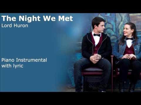 Lord Huron - The Night We Met (Piano Instrumental & Lyric Video)