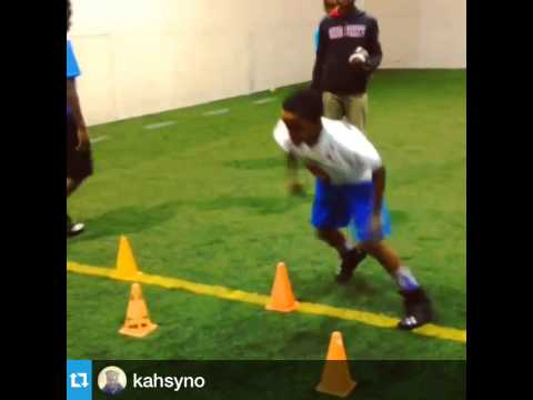 Youth Feetwork Drills Indoor Football Training Youtube