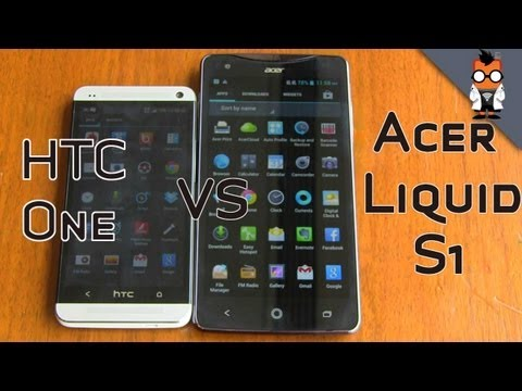 Acer Liquid S1 vs HTC One - Smartphone Comparison at Comptuex 2013