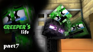 Monster School  Endermans Life Part 7 With CREEPERs Life   BEST Minecraft Animation