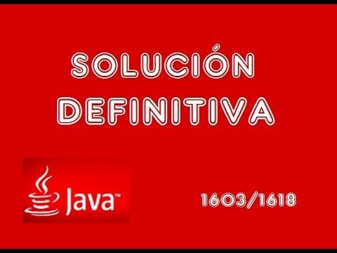 Java error 1603/1618 - Solución Definitiva