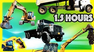 Mighty Machines Compilation 1 Hour+ – Construction Vehicles, Trains and Semi Truck Tractor
