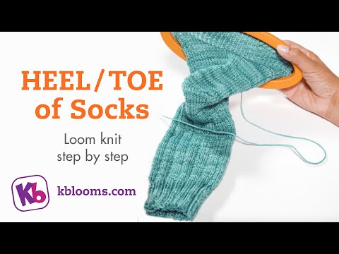 How To Loom Knit Socks For Beginners