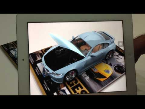Aeonsparx Interactive - BMW Z4 Augmented Reality for magazine cover
