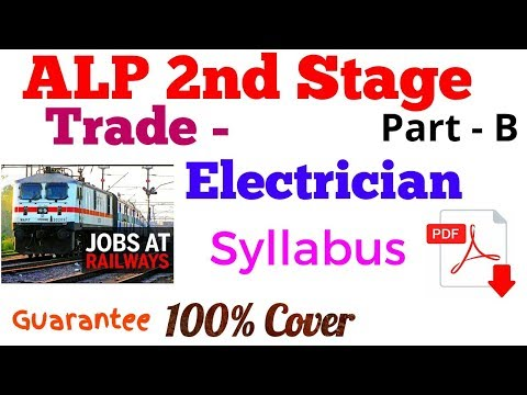 Electrician syllabus for Loco Pilot | Electrician Syllabus for ALP paper 2 | Electrician syllabus |