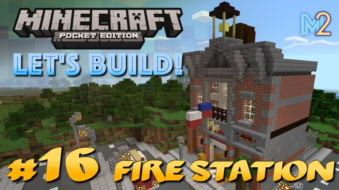 How To Build A Fire Truck In Minecraft Pe