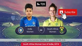 India Women Vs South Africa Women 5th T20 Full Highlights 2019