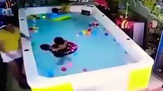Too lit tv/ baby drowns while mom's on phone