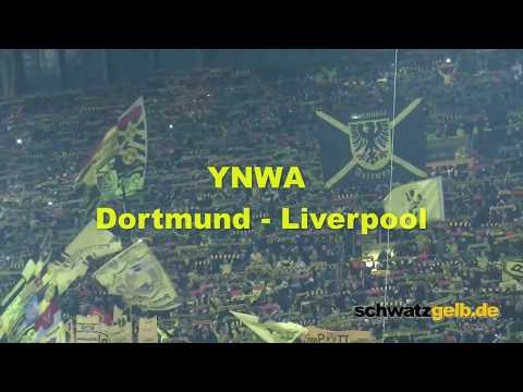 Dortmund and Liverpool Fans singing best YNWA award 2016 YOU'LL NEVER WALK ALONE BVB - LFC