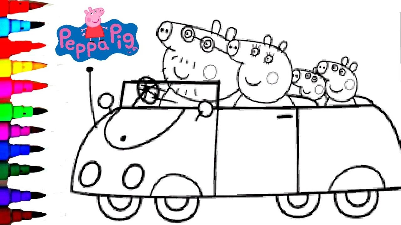 Peppa Pig English Movies Coloring Book Pages Episode Compilations