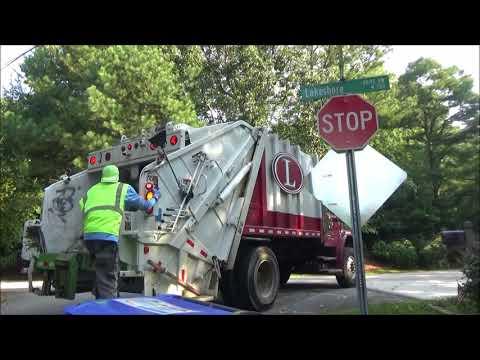 Latham Home Sanitation- Mini Leach freightliner Garbage Truck