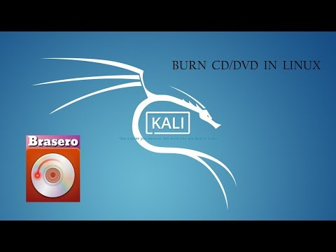 Burn CD/DVD in Linux using brasero (free software)