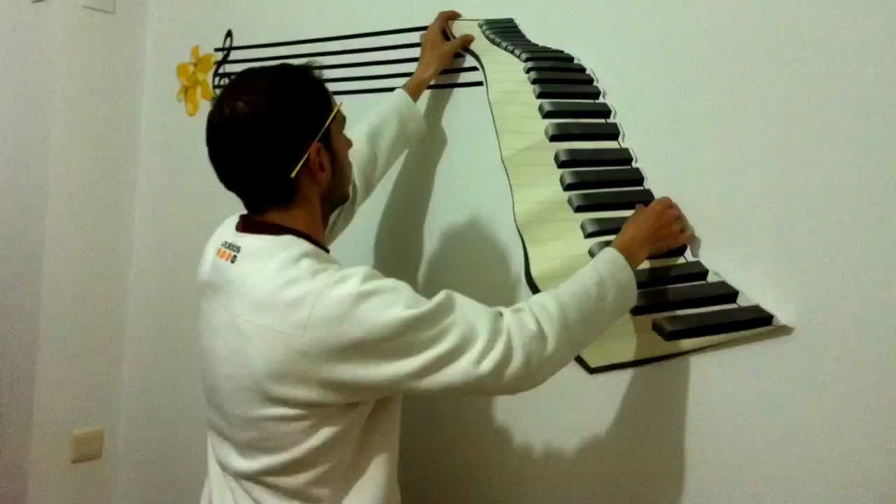 Timelapse decorar pared vinilo adhesivo adhesive vinyl - Como adornar una pared ...