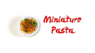 How to Make MINIATURE PASTA with Imaginary Mushrooms -  Polymer Clay Tutorial