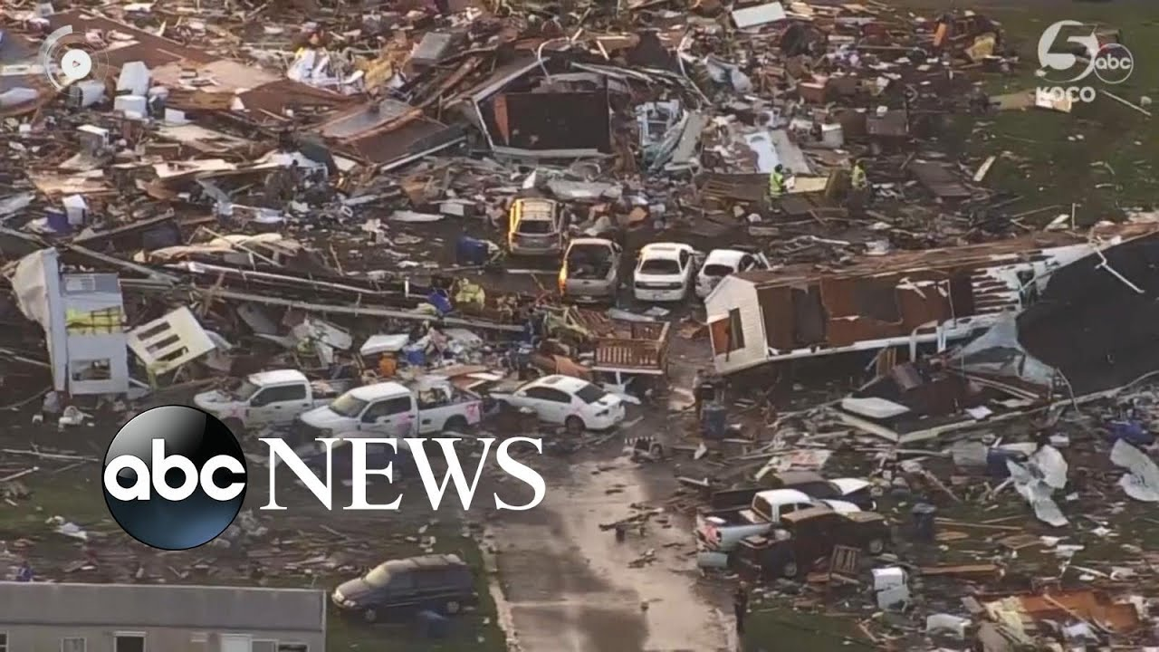 Aftermath Of Dayton, Indiana, Oklahoma Tornado Devastation