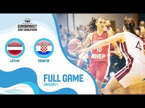 Latvia V Croatia - Full Game - FIBA Women's EuroBasket 2021 Qualifiers