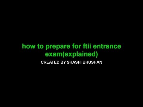 how to prepare for FTII entrance exam - DYSLEXIC SHASHI