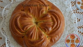 Пирог с зеленым луком и яйцом.Моя идея,Meine Idee,My idea.Flower Bread.