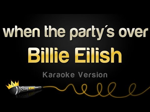 Billie Eilish - when the party's over (Karaoke Version)