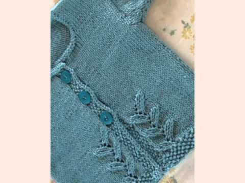 Simple Baby Cardigan Free Knitting Pattern Youtube