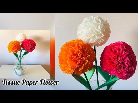 tissue-paper-flower-|-diy-tissue-paper-craft-idea-|-birthday-party-decoration-ideas