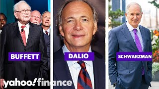 Billionaires Buffett, Dalio, and Schwarzman give advice on how to succeed in finance