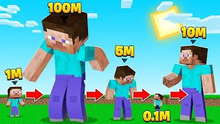 Minecraft BUT Our SIZE KEEPS CHANGING! (Tiny & HUGE!)