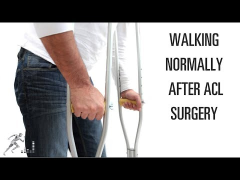 When can I walk normally after ACL surgery?
