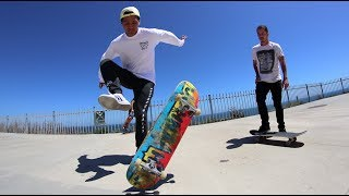 TEACHING FREESTYLE SKATEBOARDING TO A PRO!