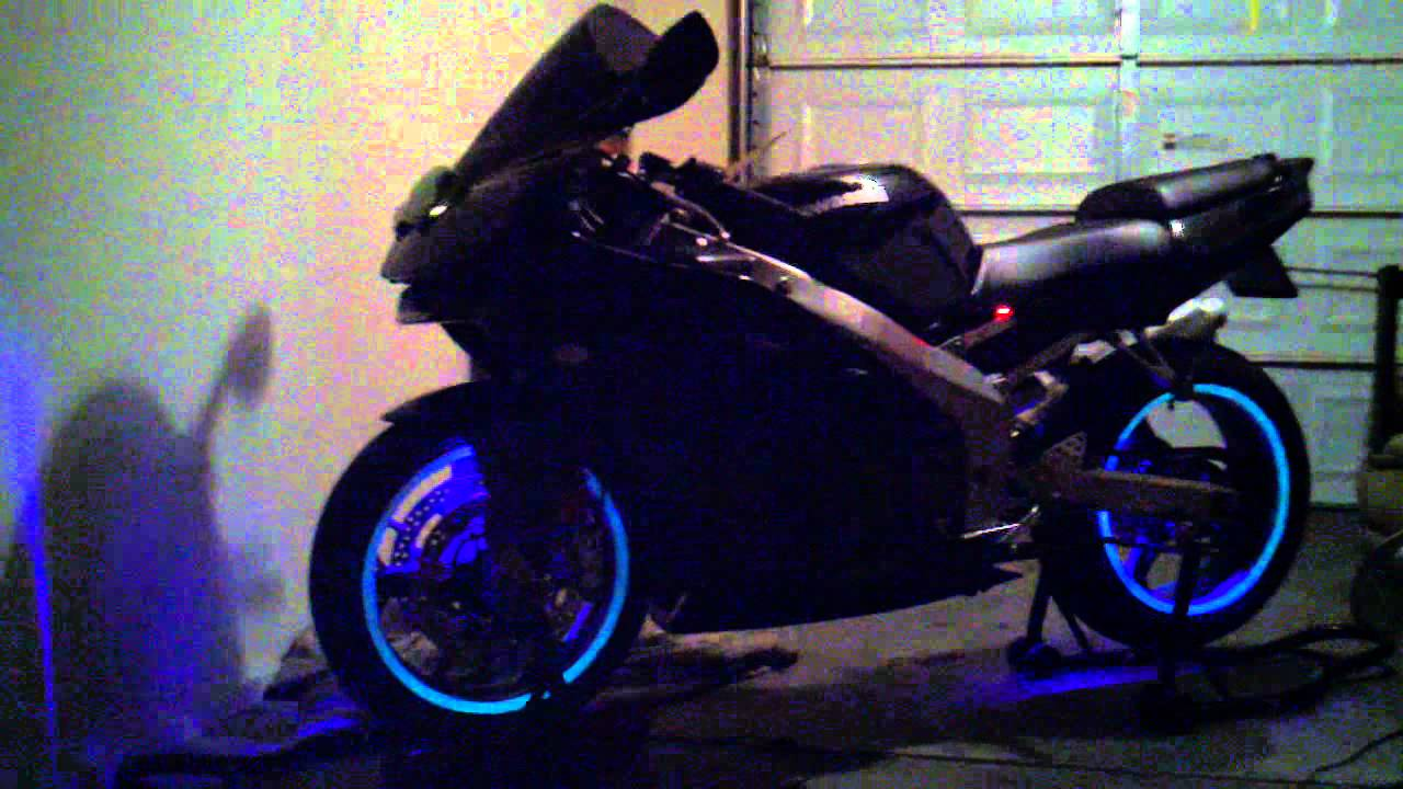 ZZR 600 GLOWING RIMS MOD - YouTube