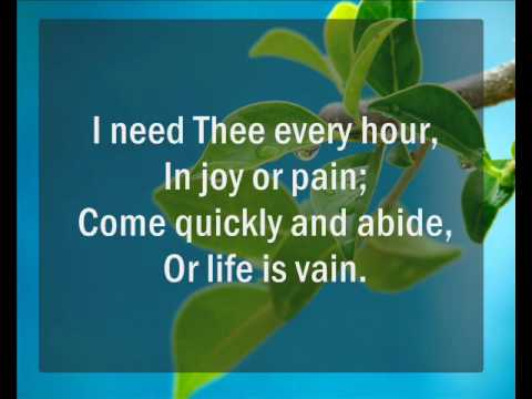 I Need Thee Every Hour _Hymnal_MV